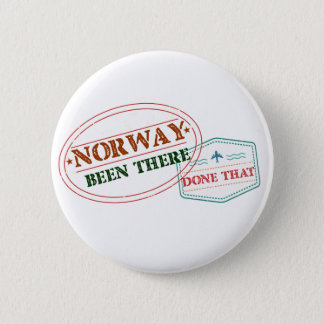 Norway Been There Done That 6 Cm Round Badge