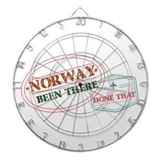 Norway Been There Done That Dartboard