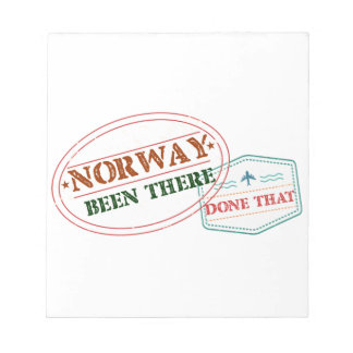 Norway Been There Done That Notepad
