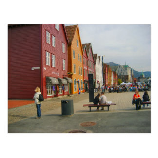 Norway, Bergen ftraditional waterfront buildings Postcard