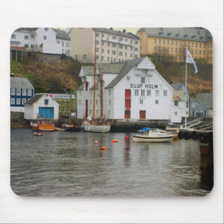 Norway, Bergen,marina and boatyard Mouse Pad