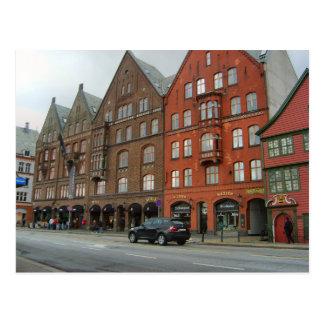 Norway, Bergen, traditional buildings Postcard