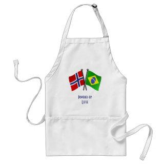 Norway Brazil Friendship Flags Standard Apron