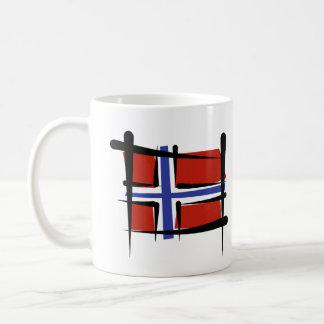 Norway Brush Flag Basic White Mug