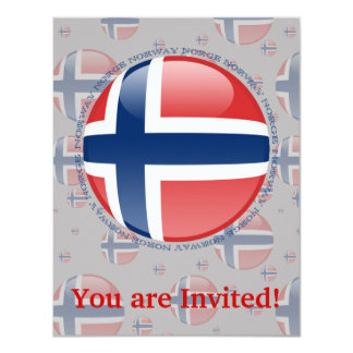 Norway Bubble Flag Card
