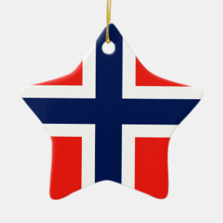 Norway Ceramic Star Decoration