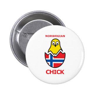 Norway Chick 6 Cm Round Badge