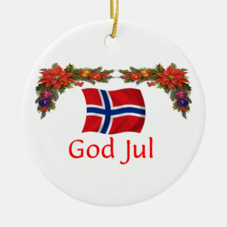 Norway Christmas Ceramic Ornament