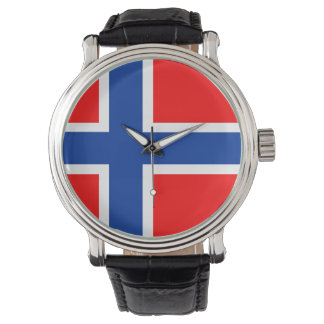 norway country flag nation symbol watch