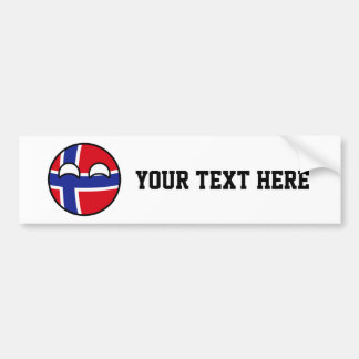 Norway Countryball Bumper Sticker