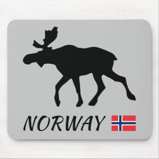 Norway Elk and flag Mouse Pad