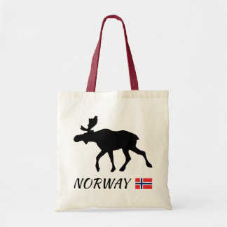 Norway Elk and flag Tote Bag