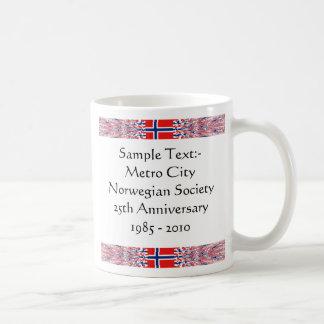 Norway eText ~ Flagcolor Map Mug