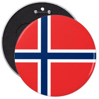 Norway Flag 6 Cm Round Badge