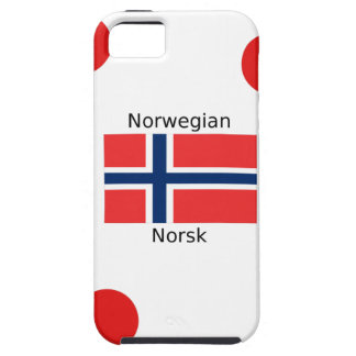 Norway Flag And Norwegian Language Design Case For The iPhone 5