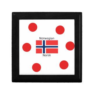 Norway Flag And Norwegian Language Design Gift Box