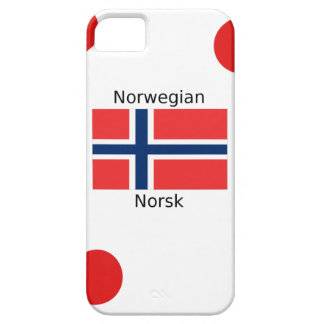 Norway Flag And Norwegian Language Design iPhone 5 Case