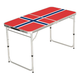 Norway Flag Beer Pong Table