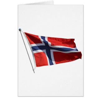 norway flag card