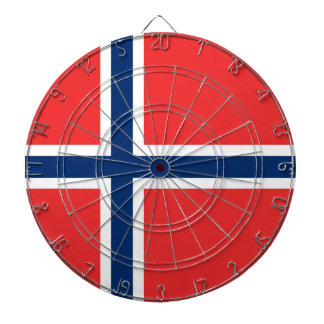 Norway Flag Dart Board