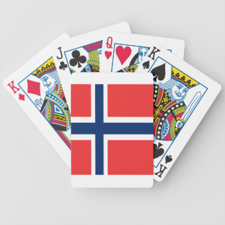 Norway flag design on product bicycle playing cards