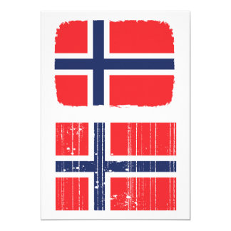 Norway Flag Invitations