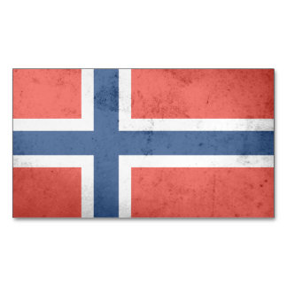 Norway Flag Magnetic Business Cards