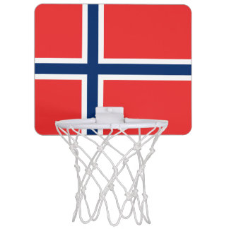 Norway Flag Mini Basketball Hoop