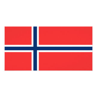 Norway Flag Photo Card Template