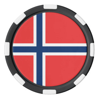 Norway Flag Poker Chips
