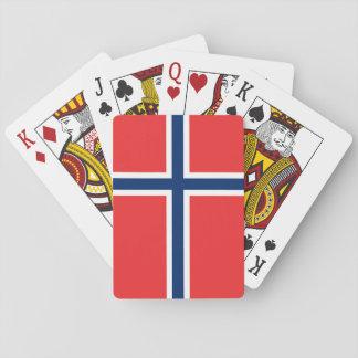 Norway Flag Poker Deck