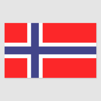 Norway flag rectangular sticker