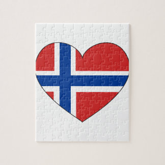 Norway Flag Simple Jigsaw Puzzle