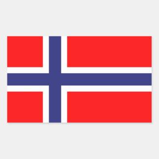 Norway flag rectangular stickers