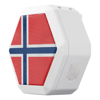 Norway Flag White Bluetooth Speaker