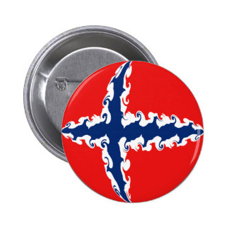 Norway Gnarly Flag Pinback Buttons