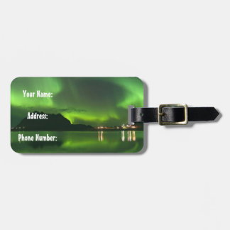 Norway Green Lights Luggage Tag