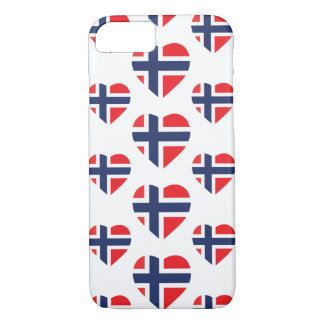 NORWAY HEART SHAPE FLAG iPhone 7 CASE