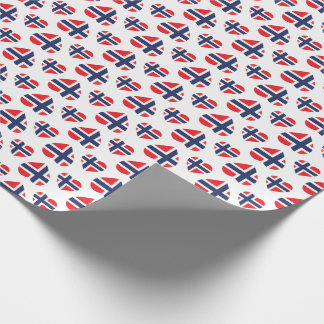 NORWAY HEART SHAPE FLAG WRAPPING PAPER