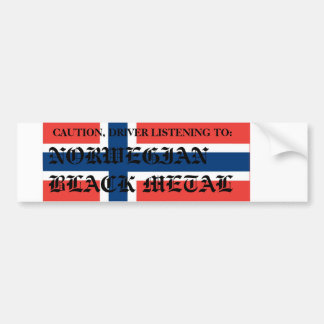 norway-hi, CAUTION, DRIVER LISTENING TO:, NORWE... Bumper Sticker