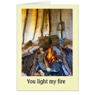 Norway, inside a Sami tent, Lapland Card