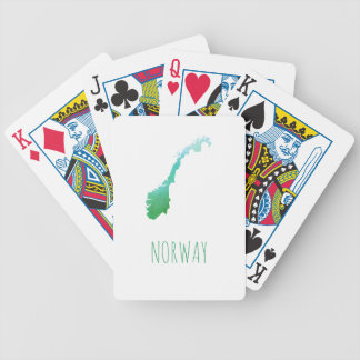 Norway Map Bicycle Playing Cards