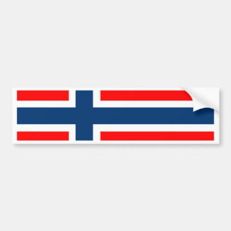 Norway National Flag Bumper Sticker