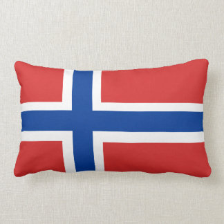 Norway / Norge Norwegian Flag (no text) Accent Lumbar Cushion