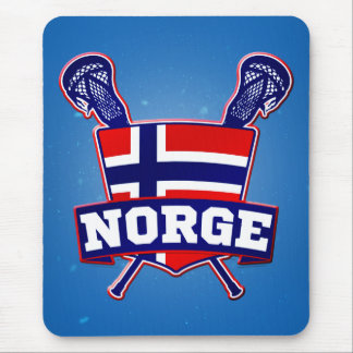 Norway Norsk Lacrosse Mouse Pad