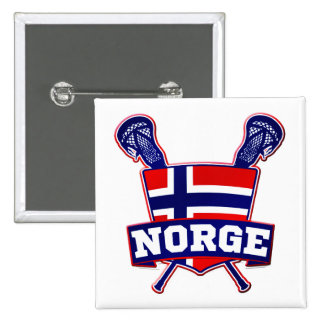 Norway Norsk Lacrosse Pinback Button