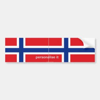 Norway norwegian flag bumper sticker