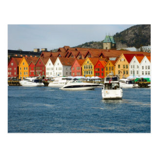Norway, Painted houses on the waterfront Postcard