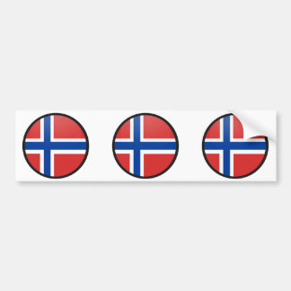 Norway quality Flag Circle Bumper Sticker