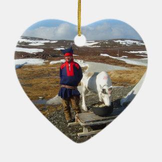 Norway, Sami settlement in Lapland Ceramic Ornament